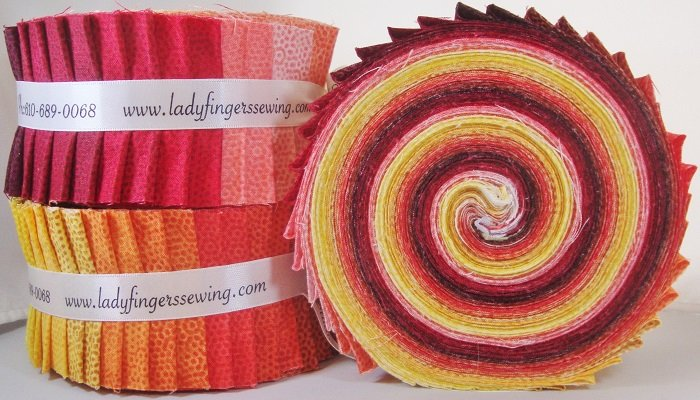 Dimples Strip Roll - Red / Orange / Yellow