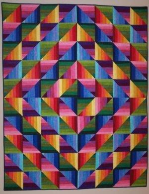 Dimples Rainbow Strata Quilt Kit