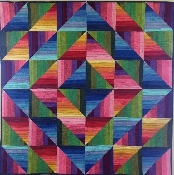 Dimples Rainbow Strata Quilt Kit - Small