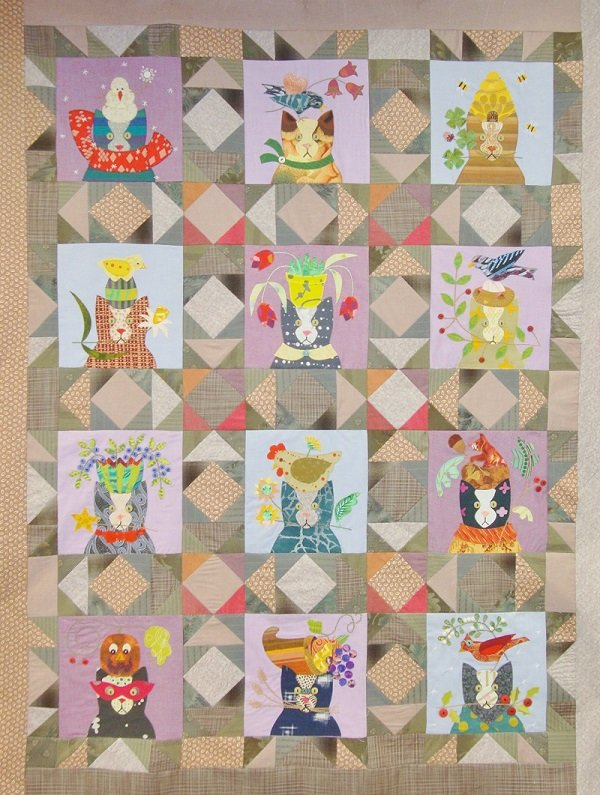 Disco Kitty Block of the Month