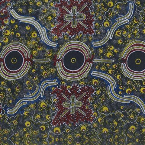Aboriginal Dreamtime Knowledge Blue