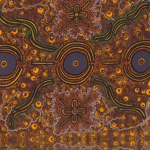 Aboriginal Dreamtime Knowledge Burgandy