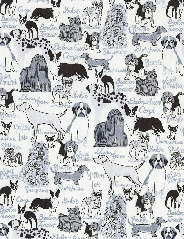 Dog Breeds C6571-WHITE