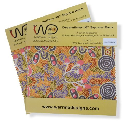 Aboriginal Dreamtime Square Pack - Yellow 10