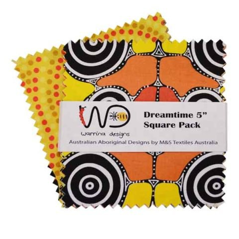 Aboriginal Dreamtime Square Pack - Yellow 5