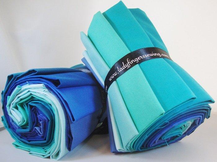 Designer Solids Gradation - Teal / Blue