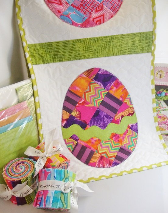 Patchwork Easter Egg Roll Table Runner Quilt Kit