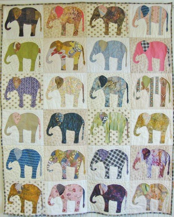 Elephants Quilt Kit