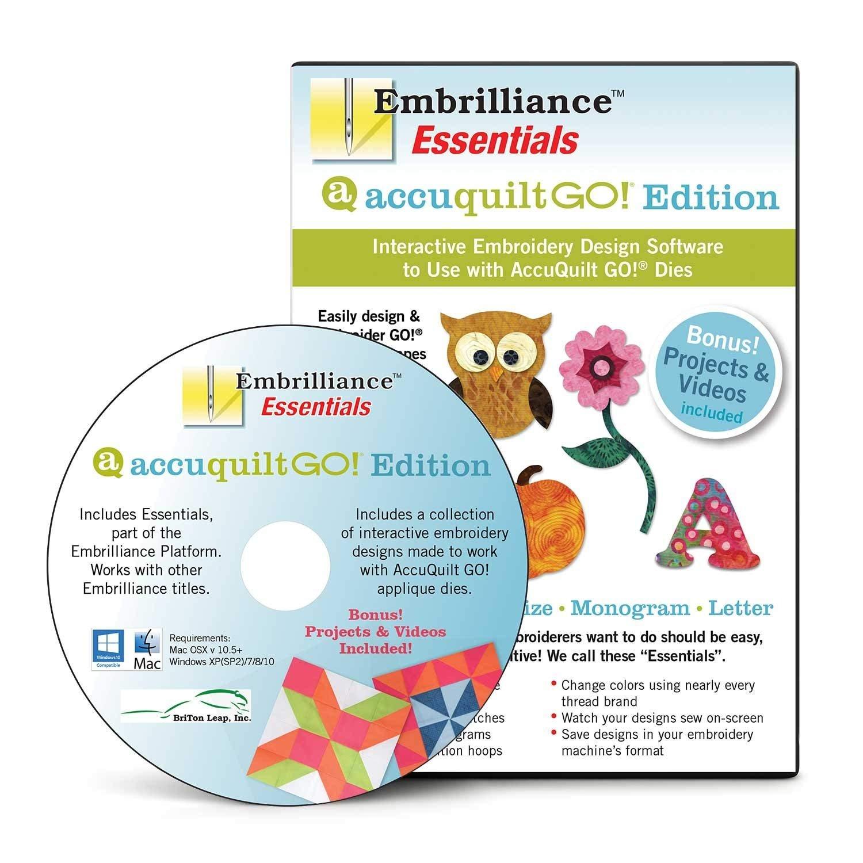 GO! Embrilliance Essentials AccuQuilt GO! Edition