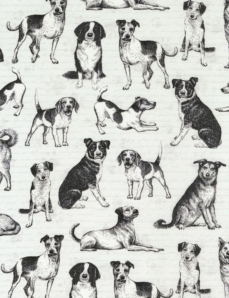 Playful Pups C6280-GREY