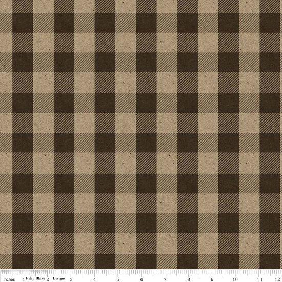 Menswear Check Brown Flannel