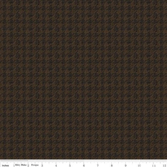 Menswear Houndstooth Brown Flannel