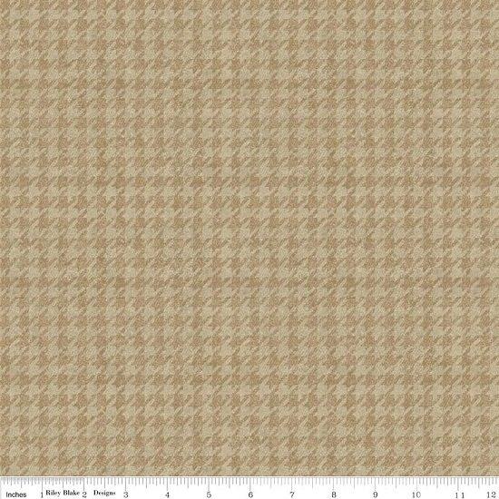 Menswear Houndstooth Tan Flannel F4792-TAN