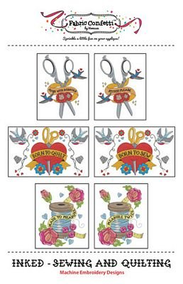 Inked - Sewing + Quilting Machine Embroidery Designs