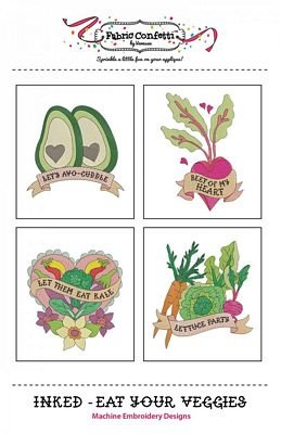 Inked - Eat Your Veggies Machine Embroidery Designs