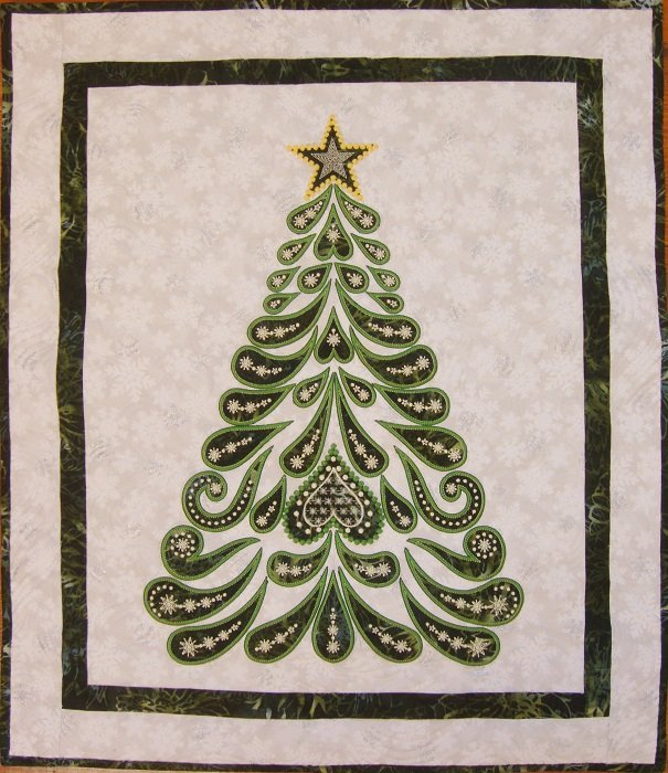 Feathered Christmas Machine Embroidered Quilt Kit