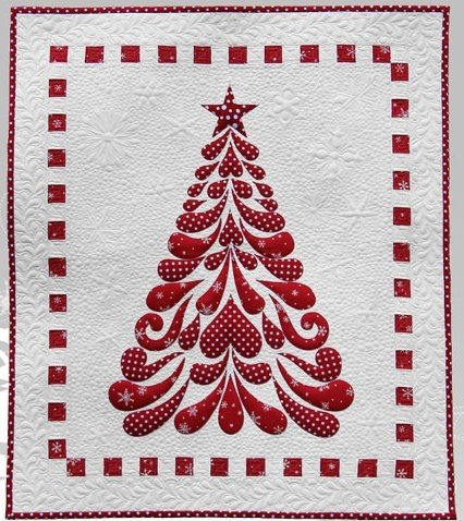 Feathered Christmas Quilt Kit