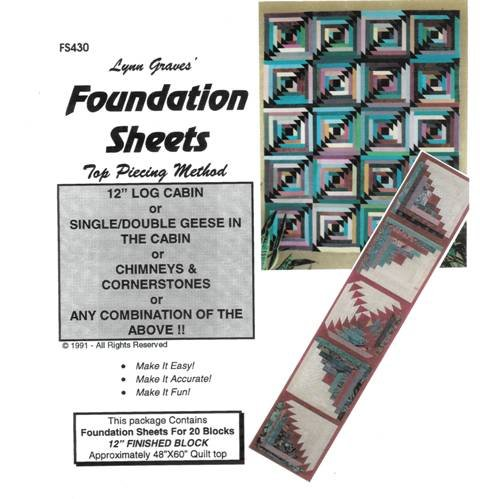 12 Log Cabin Foundation Sheets