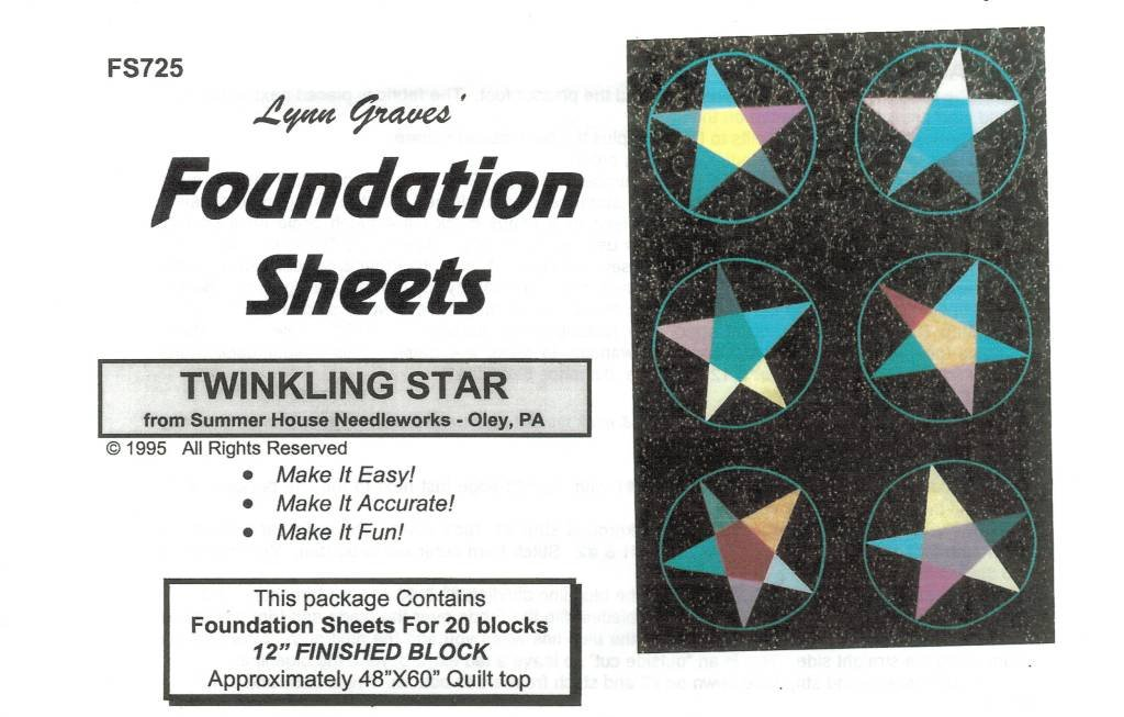 Twinkling Star Foundation Sheets