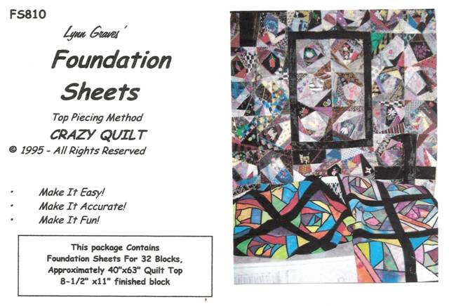 Crazy Quilt Foundation Sheets
