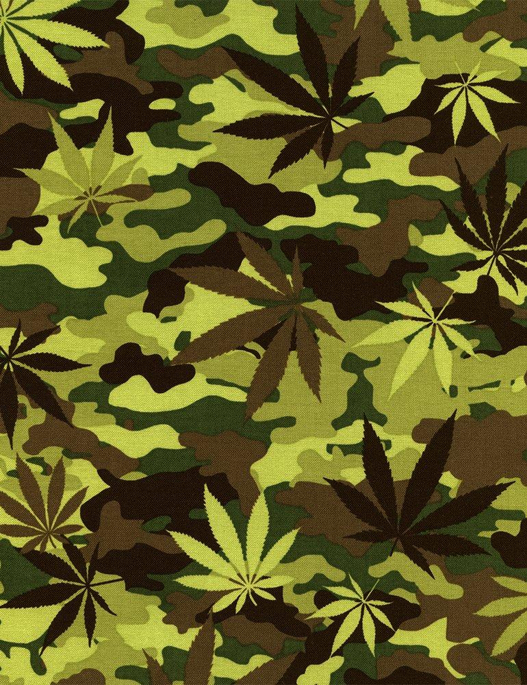 Cannabis Camo C4681-GREEN