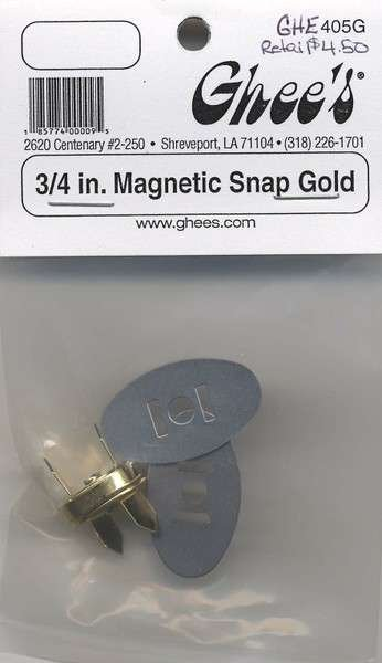 Magnetic Snap 3/4in Gold