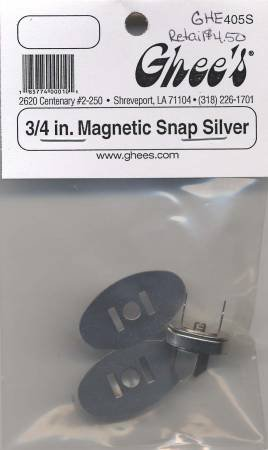 Magnetic Snap 3/4 Silver