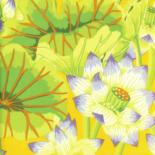 Kaffe Fassett Collective - Lake Blossoms - Yellow GP93.YELL