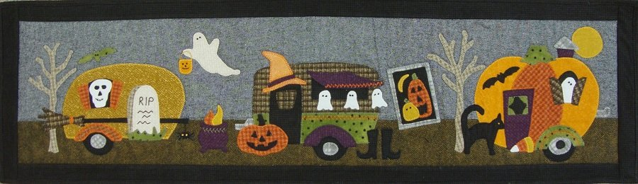 Halloween Campers In A Row Quilt Kit