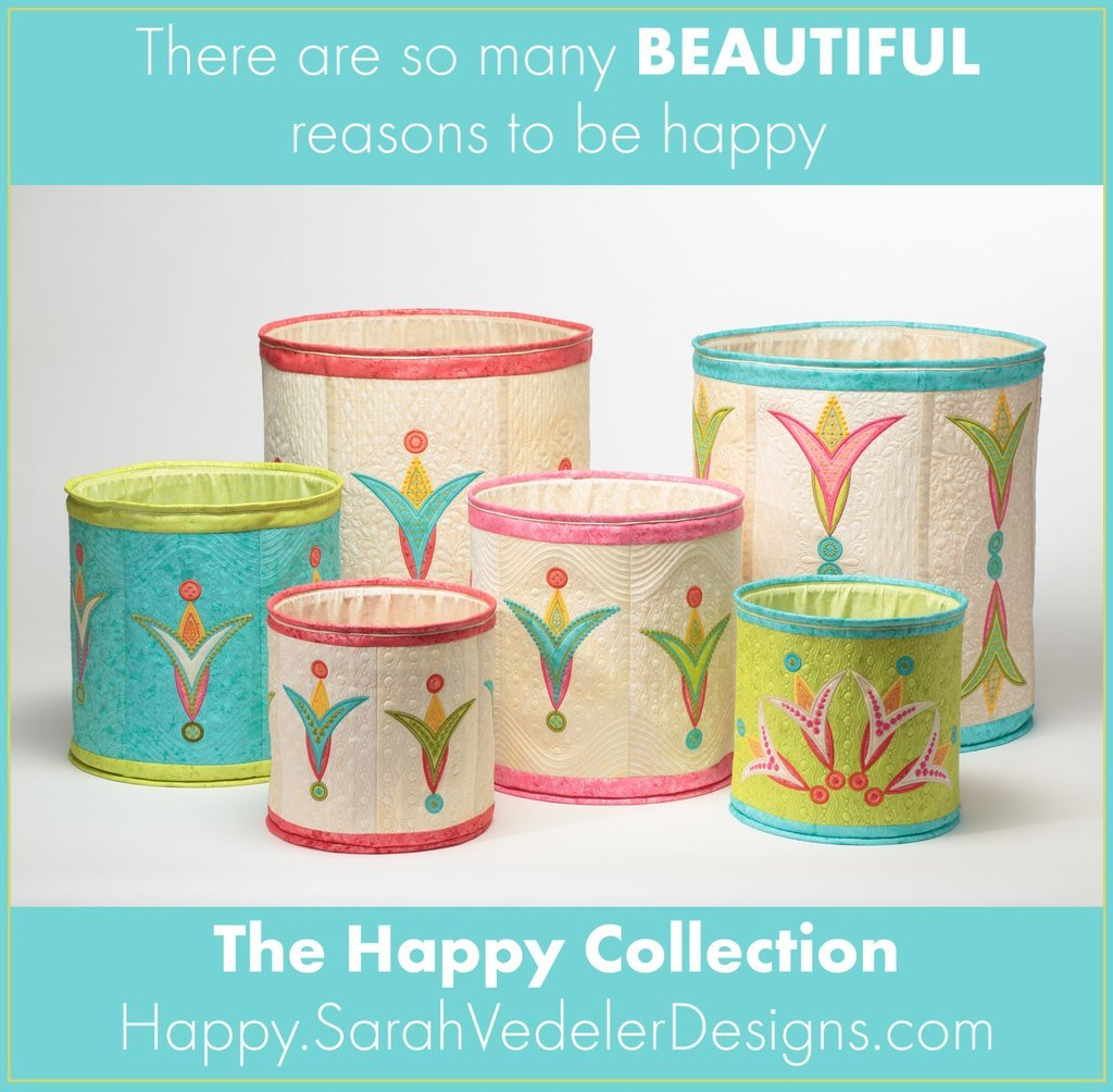 Happy Popups Collection Embroidery CD by Sarah Vedeler