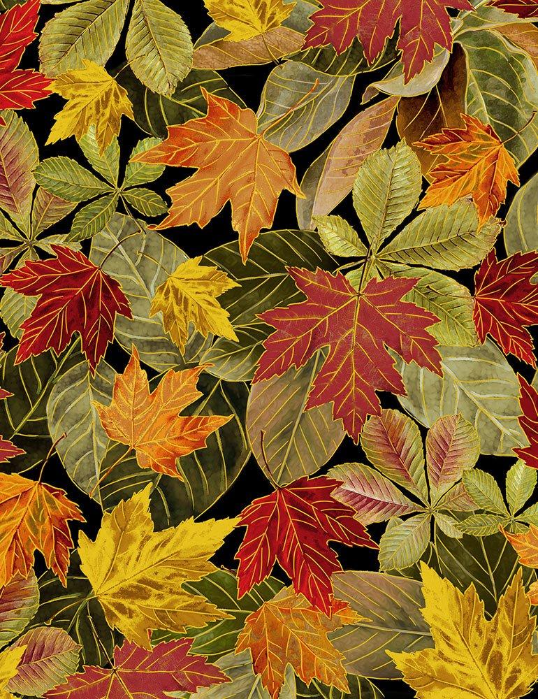 Harvest Metallic Packed Leaves CM7086-MULTI