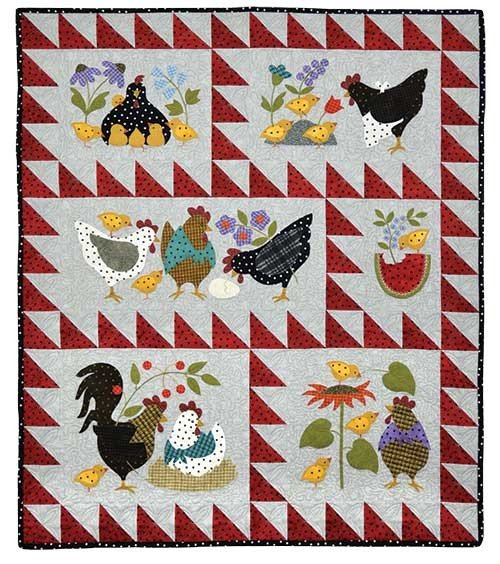 Quilt Backing -  Here A Chick Quilt