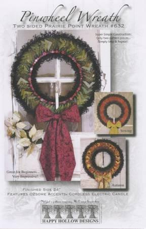 Pinwheel Wreath [Two Sided Prairie Point Wreath]