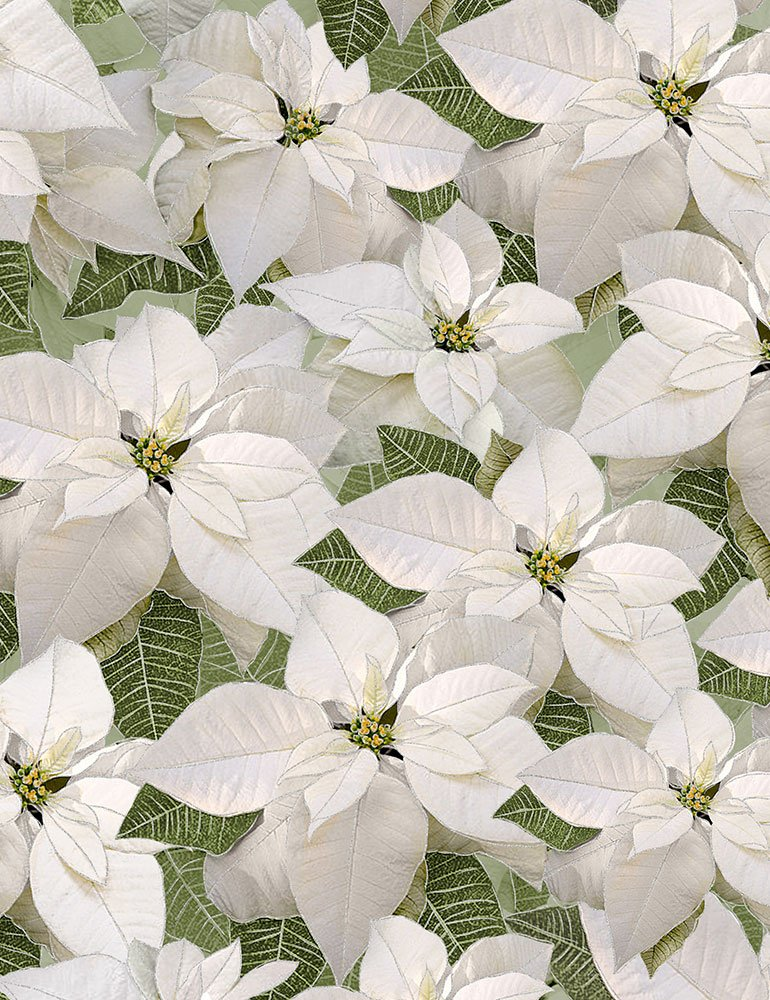 Holiday Poinsettia CM6960-WHITE