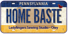 Row by Row License Plate Home Baste  2016