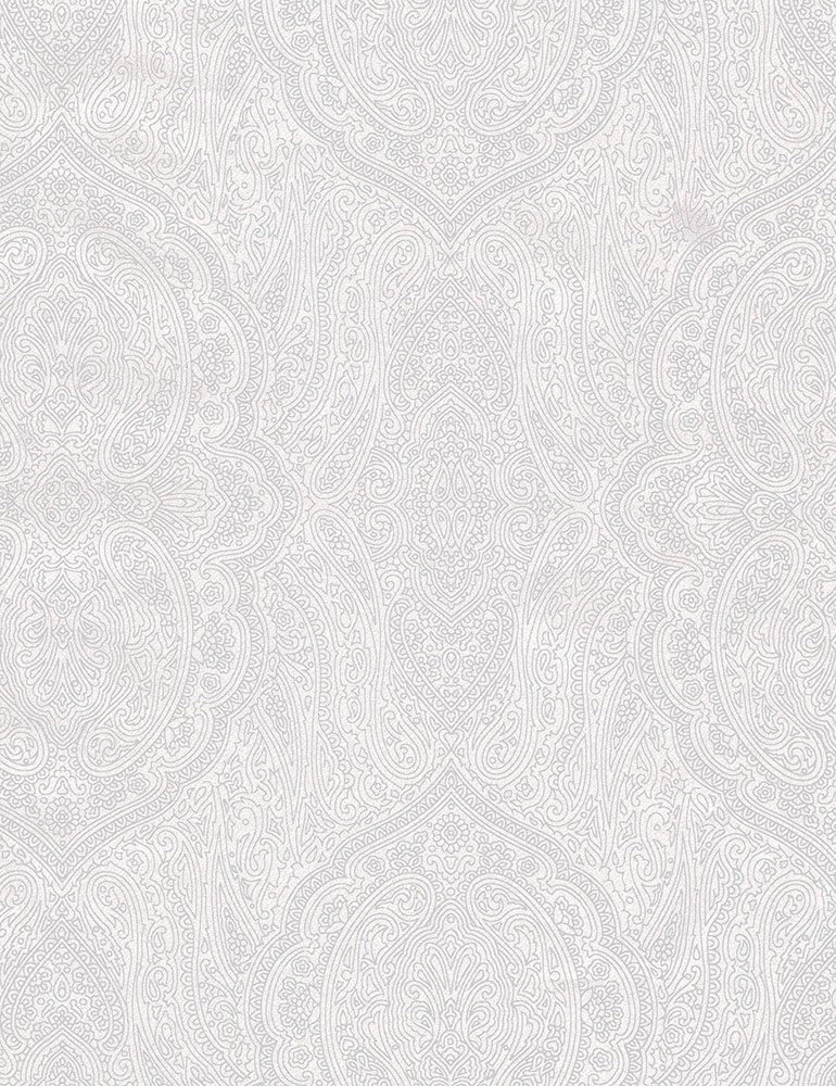 Hue Frosting Paisley C7111-WHITE