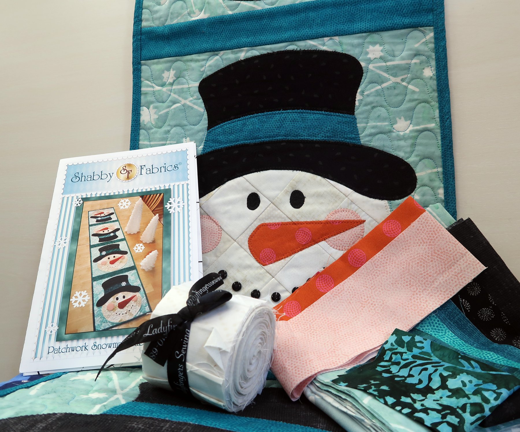 Patchwork Snowman Table Runner Snowman Roll Quilt Kit