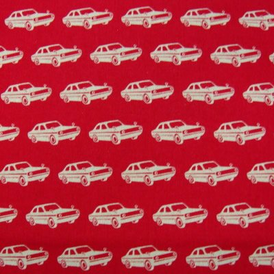 Cars (red) 55% linen