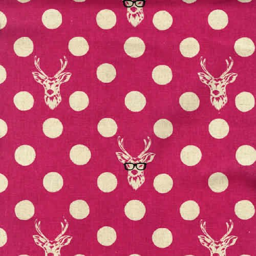 -buck- 55% linen (pink) Deer with Sunglasses