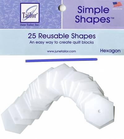 Simple Shapes (25pcs - 1 Edge Hexagon)