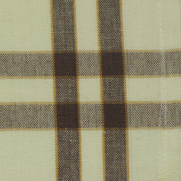 Brown on Cream w/ Pumpkin stripe Towel