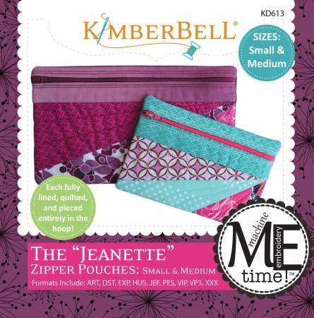 Kimberbell Jeanette Zipper Pouch - Small and Medium