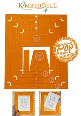 Orange Pop Ruler Rectangle Set
