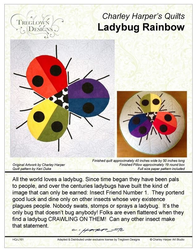 Ladybug Rainbow by Charley Harper's Quilts