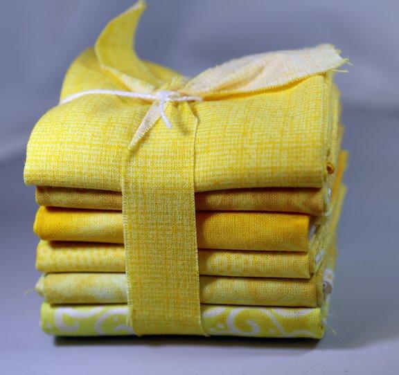 Lemon Fat 6th Bundle - 1 Yard (6 - 12 x  21 Pre-Cuts)