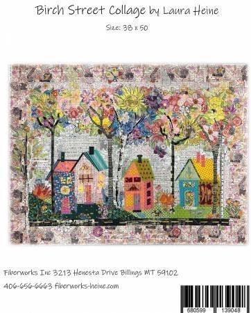 Birch Street Collage Pattern by Laura Heine