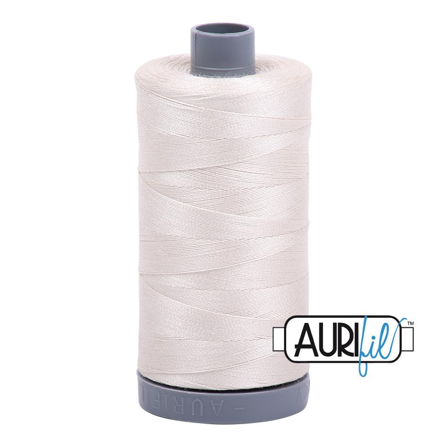 Aurifil 28wt col. 2309 Silver White 820yds