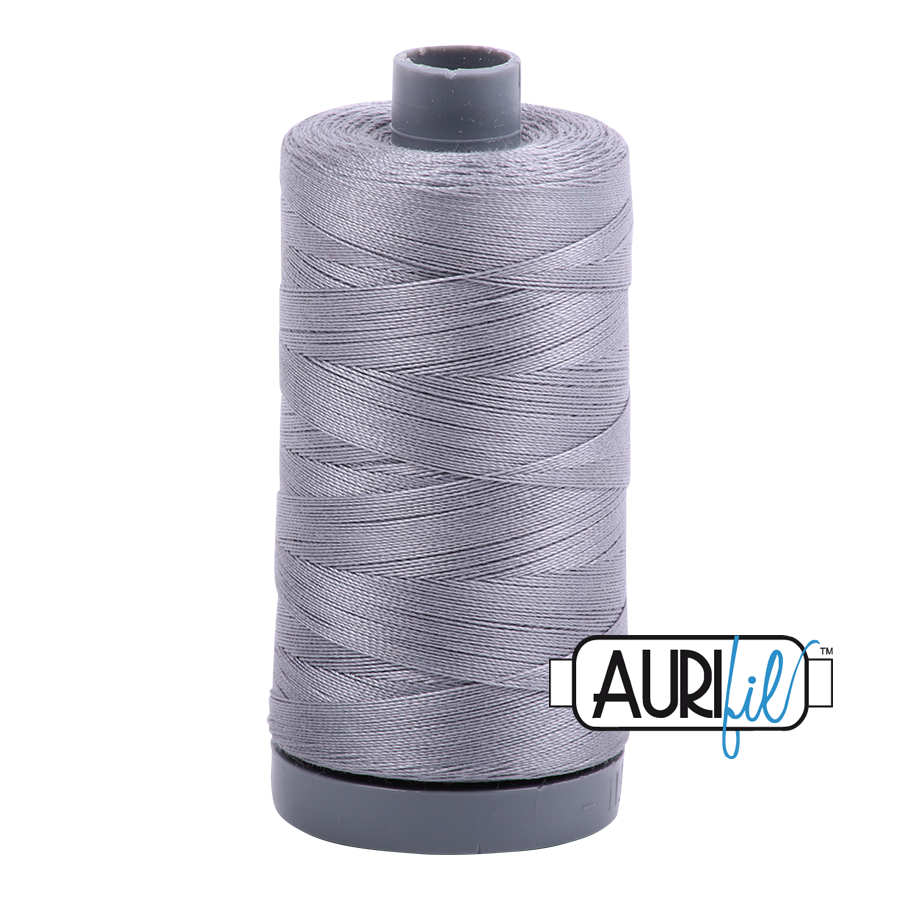Aurifil 28wt col. 2605 Grey 820yds