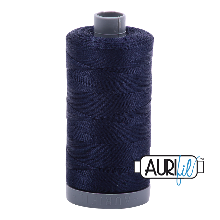 Aurifil 28wt col. 2785 Very Dark Navy 820yds