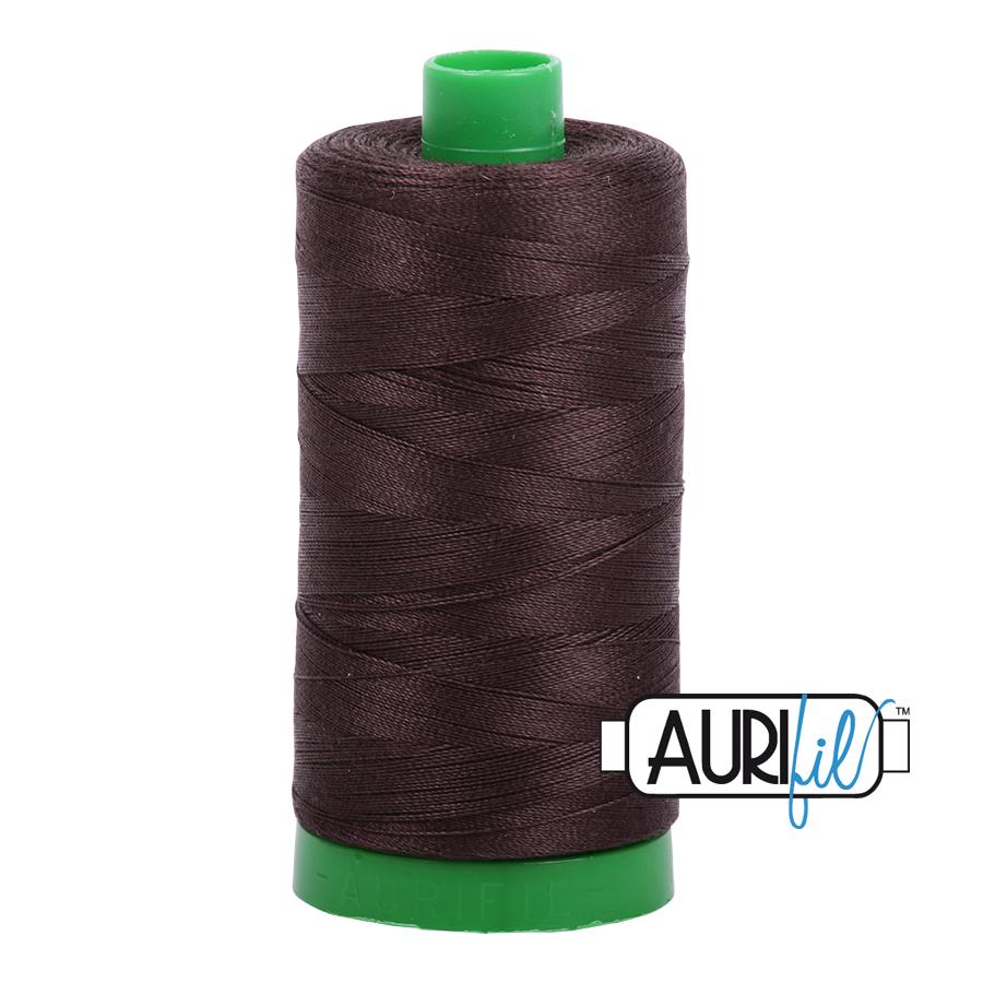 Aurifil 40 wt col. 1130 Very Dark Bark 1094yds